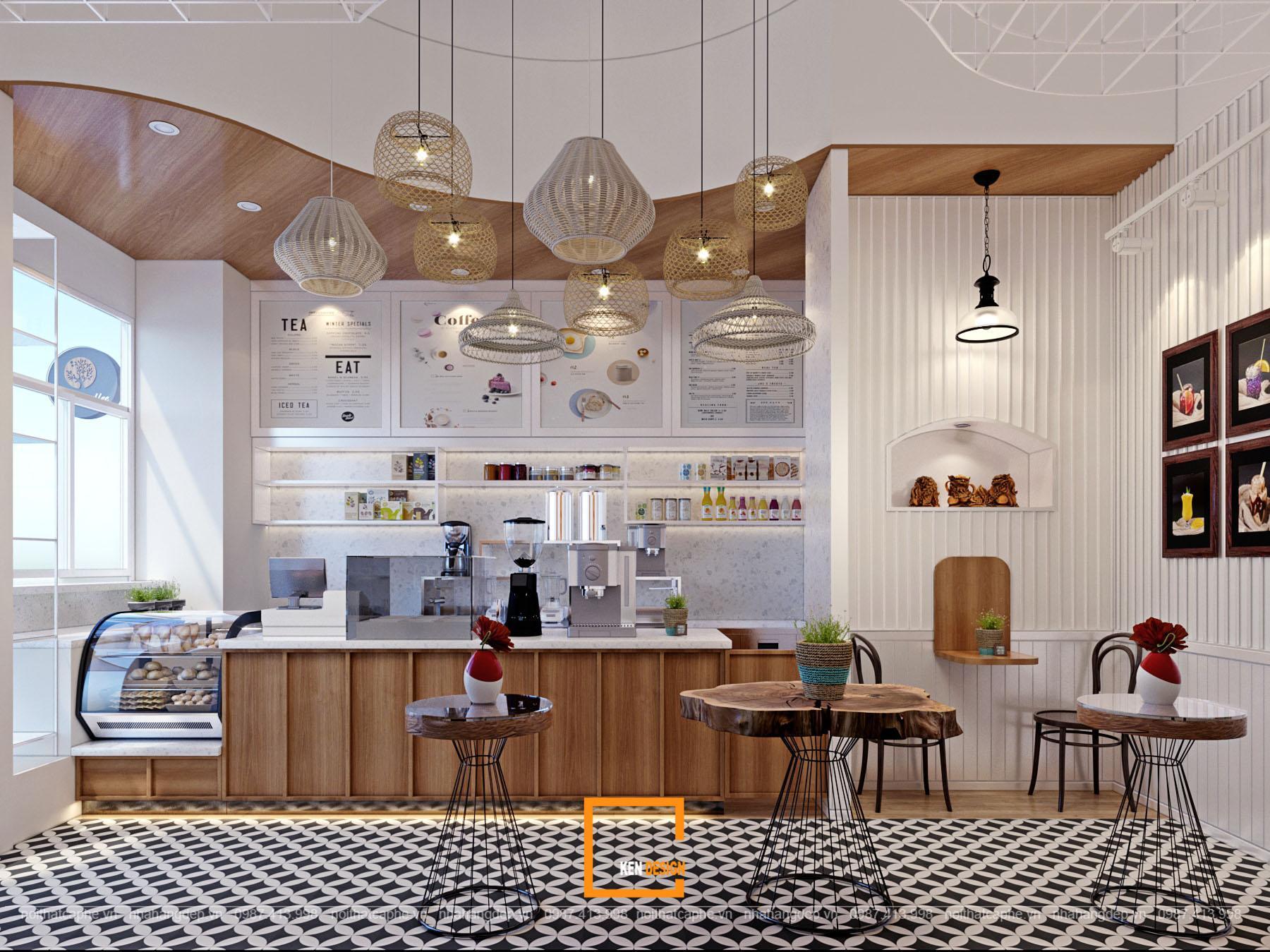 Thiết kế quán trà sữa Mild Coffee & Tea tại Hungary