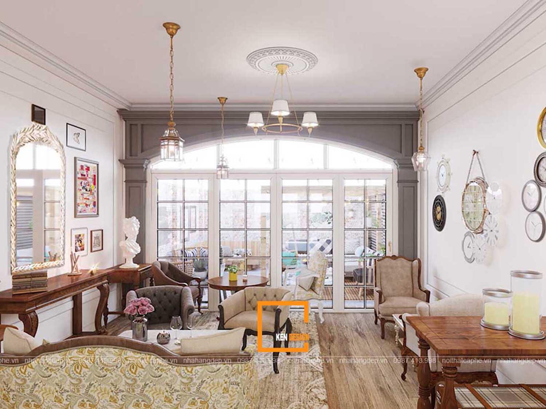 thiết kế quán trà sữa phong cách cổ điển