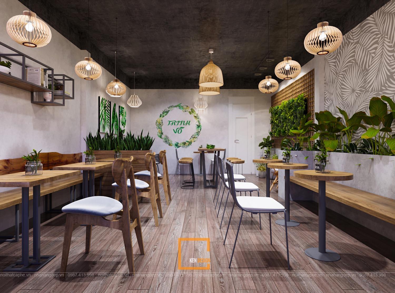 Thiết kế quán trà sữa phong cách Đông Dương