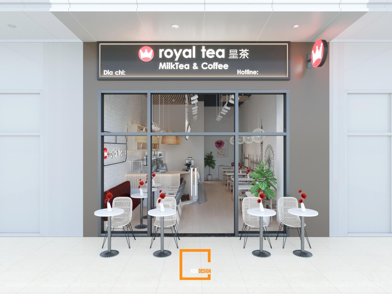 Thiết kế quán trà sữa Royal Tea Nhà Bè - Hồ Chí Minh