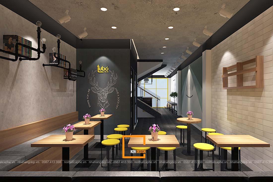 thiết kế quán trà sữa tại Hồ Chí Minh