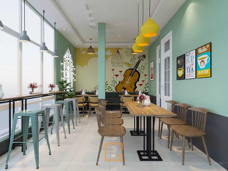 thiết kế quán trà sữa tại Quảng Ninh