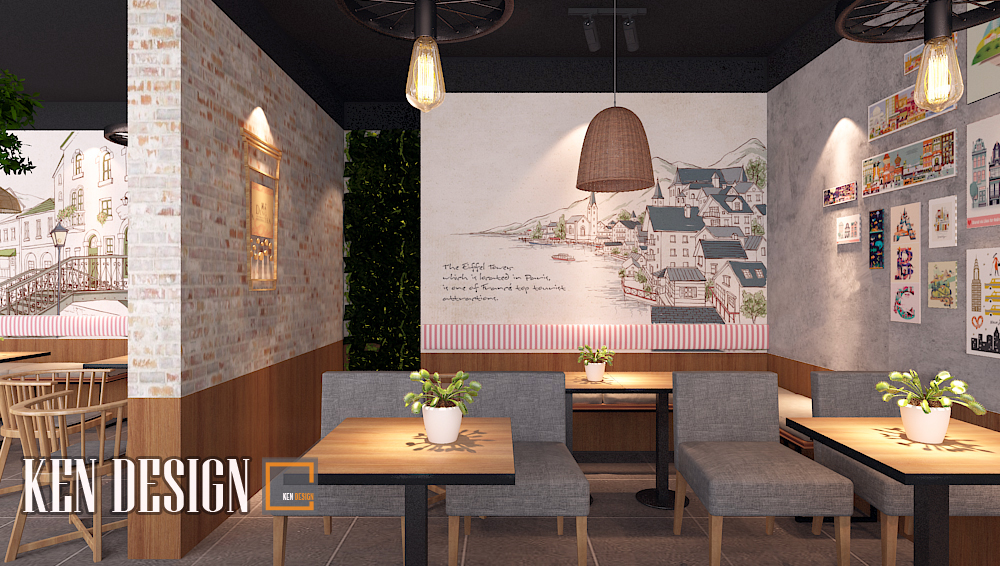 thiết kế quán trà sữa tại Sơn La