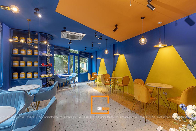 thiết kế quán trà và hoa