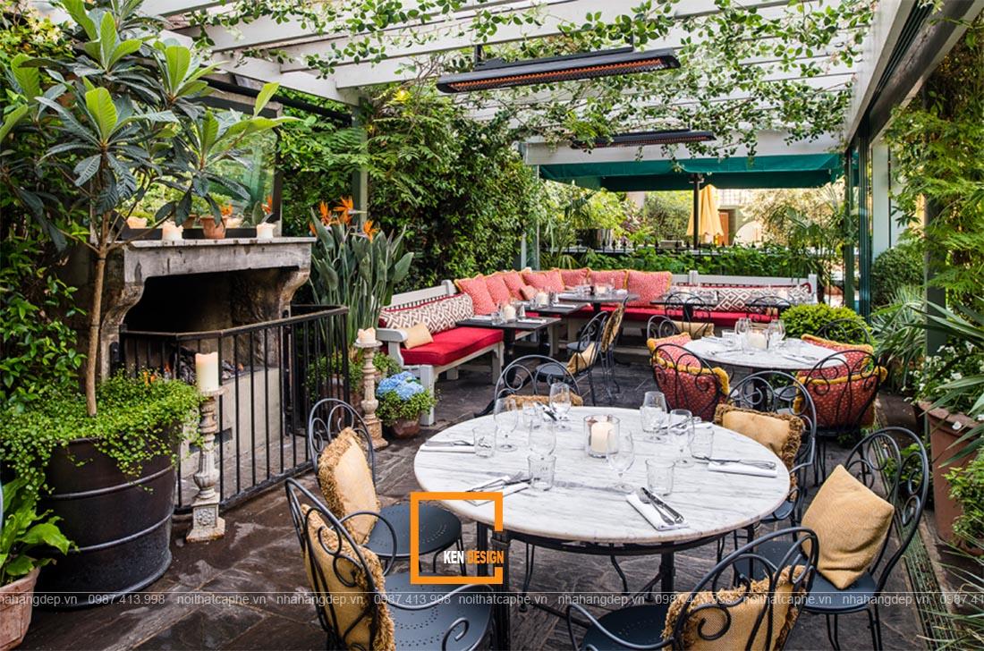 thiết kế thi công nhà hàng sân vườn