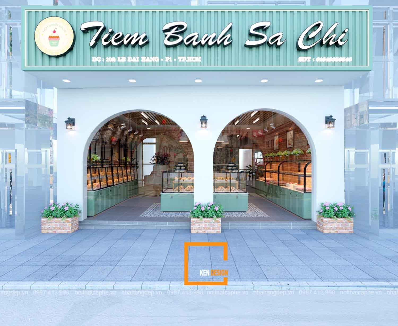 Thiết Kế Tiệm bánh Sachi
