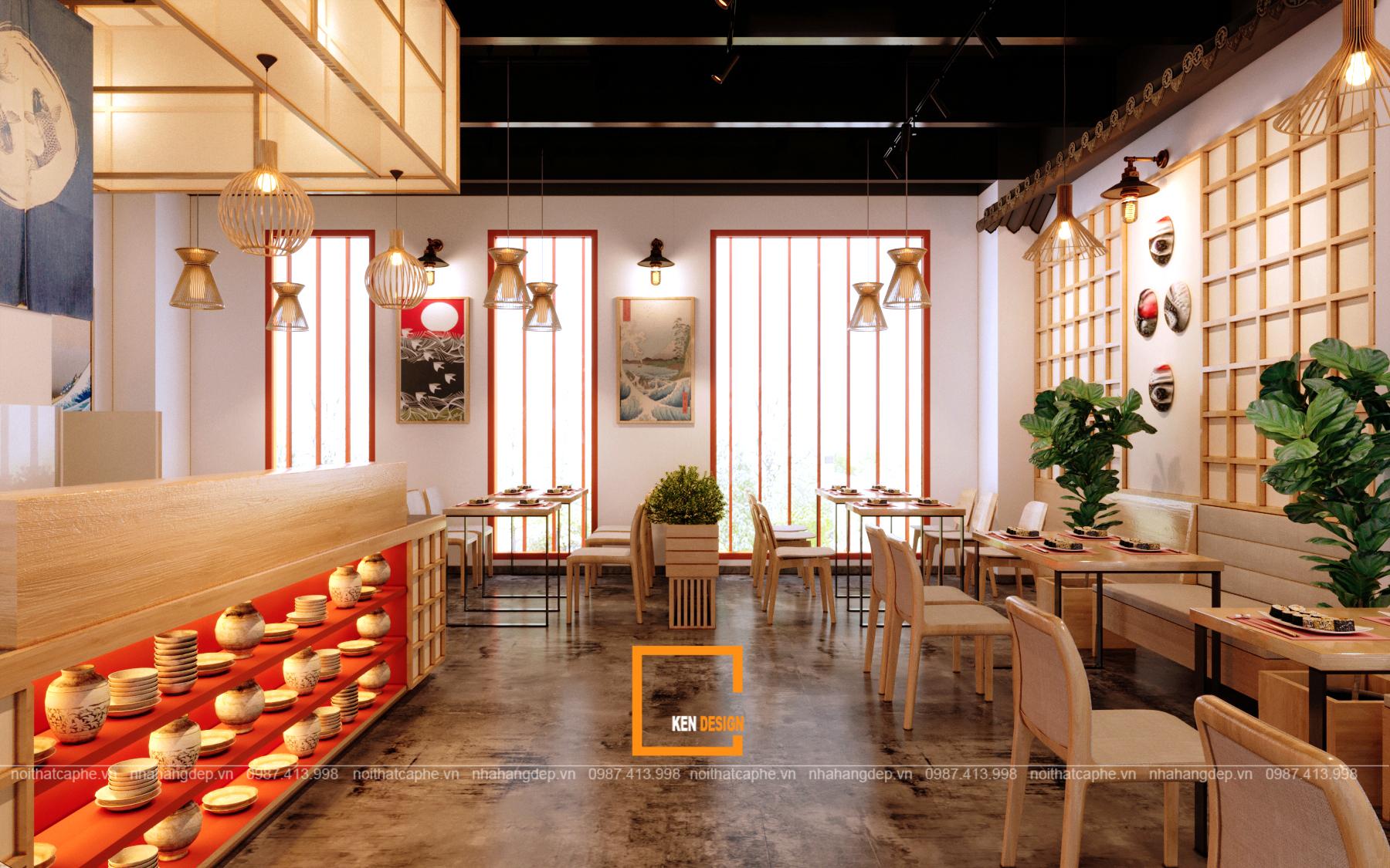 hiết kế thi công nội thất nhà hàng