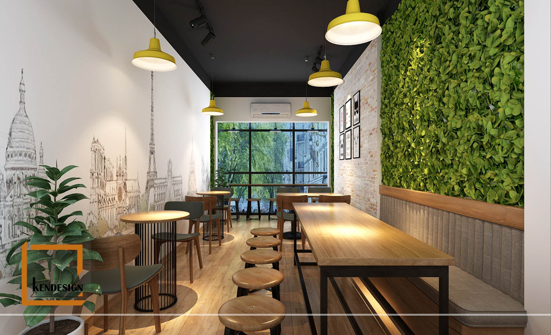 thiết kế nhà hàng diện tích nhỏ