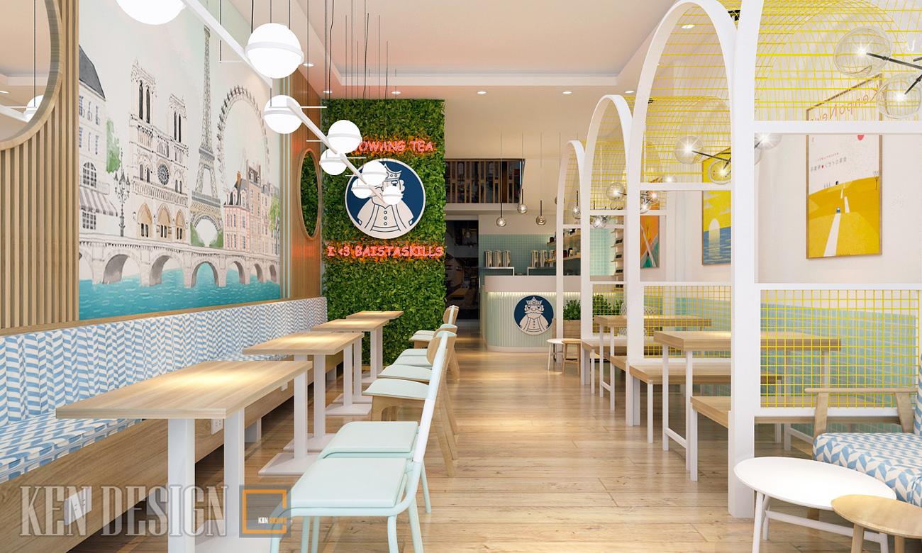 Thiết kế quán trà sữa Guowang Tea