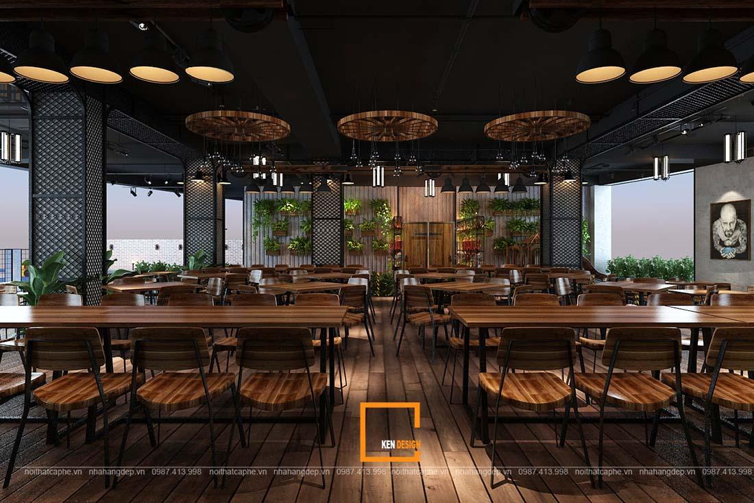 Trang trí nhà hàng ăn uống