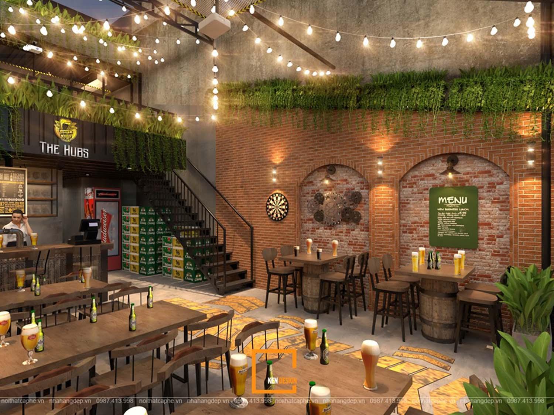 thiết kế nhà hàng bia hơi khung thép
