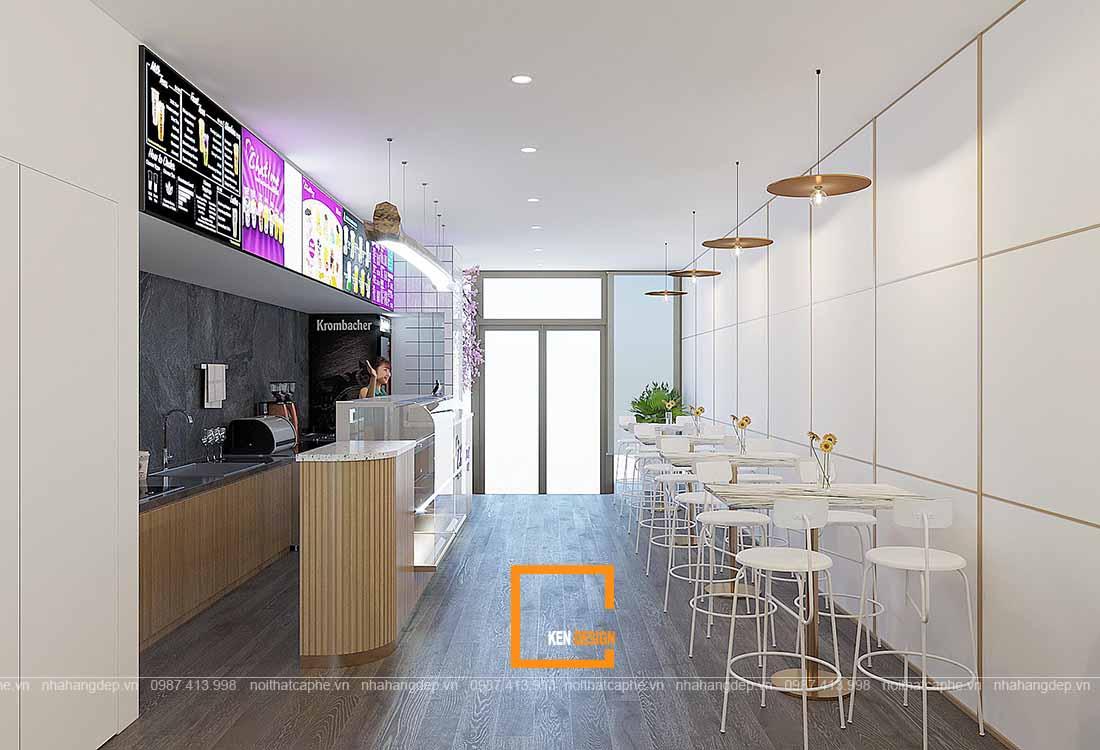 thiết kế quán trà sữa tại Hà nội.