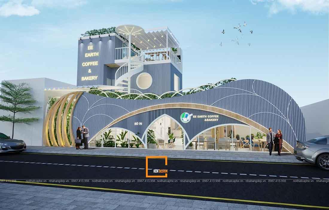 Bản vẽ thiết kế quán cafe EE Earth tại Hà Nội