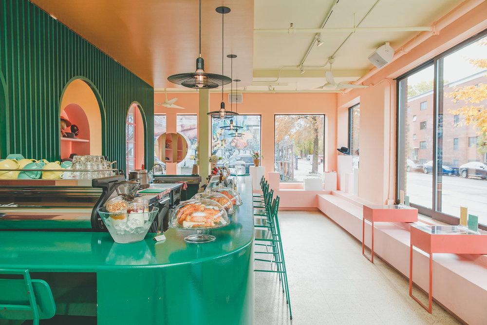 Thiết kế quán cafe phong cách Hàn Quốc 3