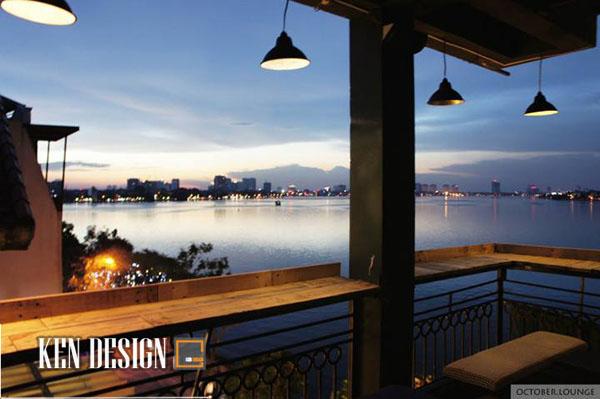 Thiết kế October lounge với view Hồ Tây