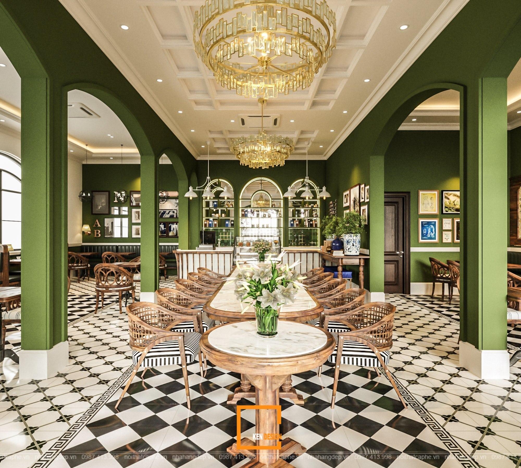 Thiết kế quán cafe tân cổ điển Boutique Coffee