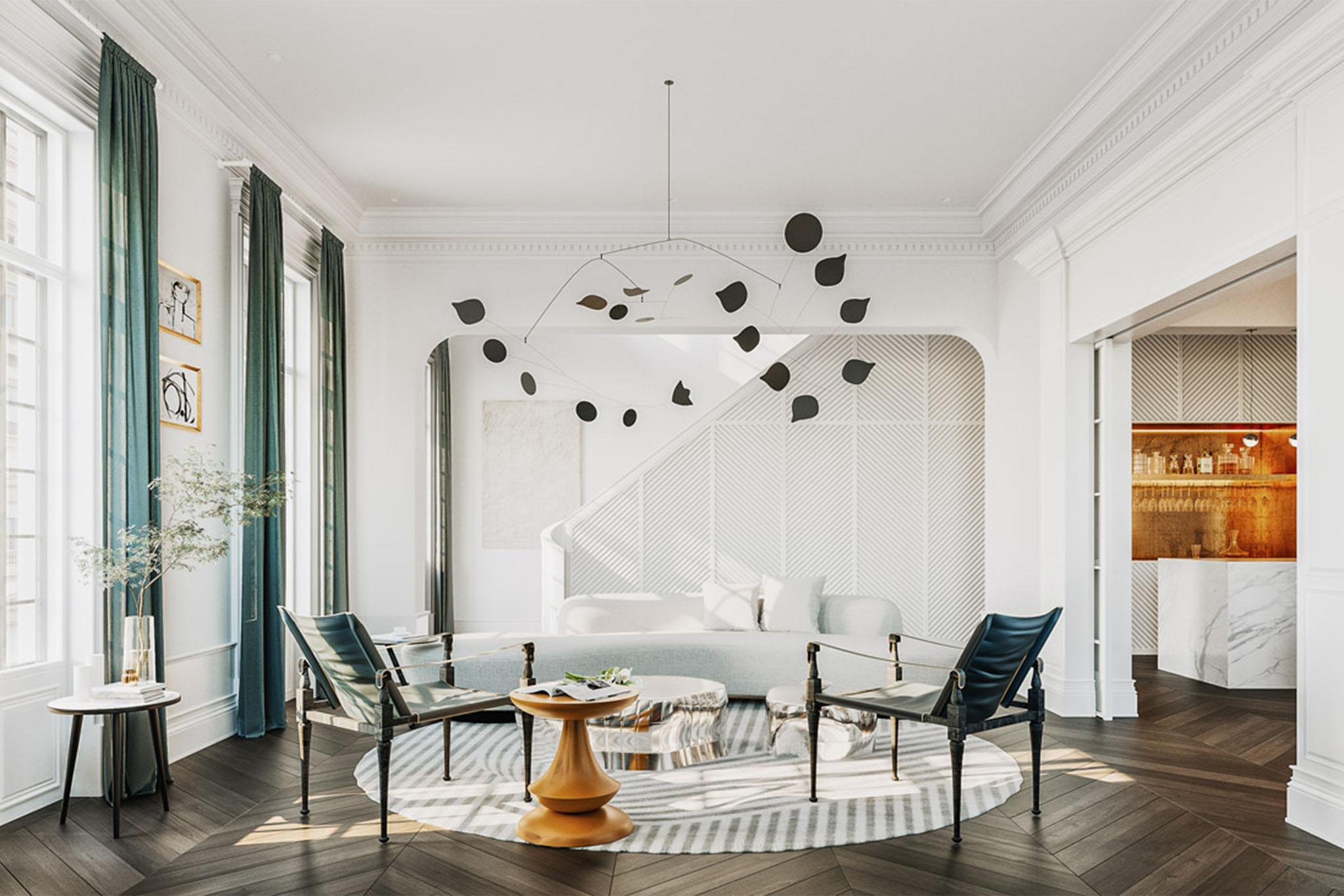Thiết kế không gian cafe tân cổ điển Châu Âu