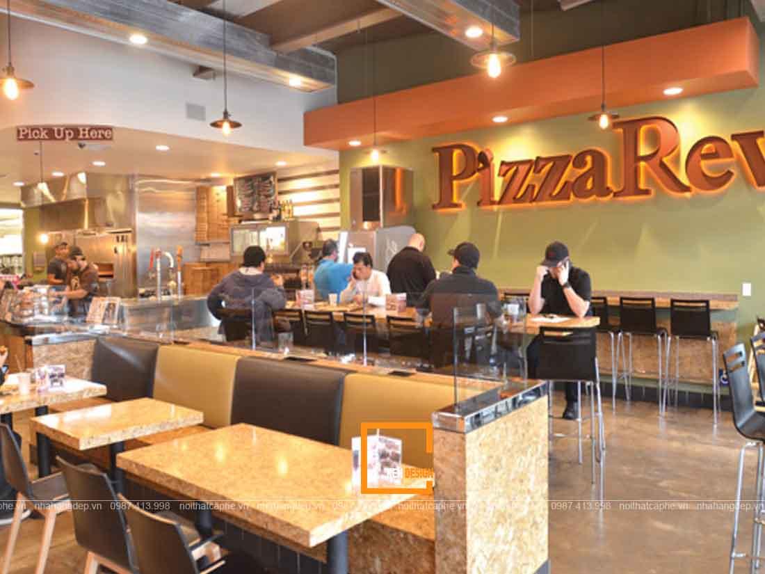 thiết kế nhà hàng Pizza