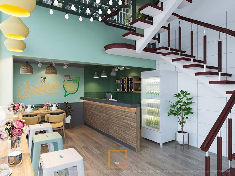 Thiết kế quán nước ép Jucie Quảng Ninh