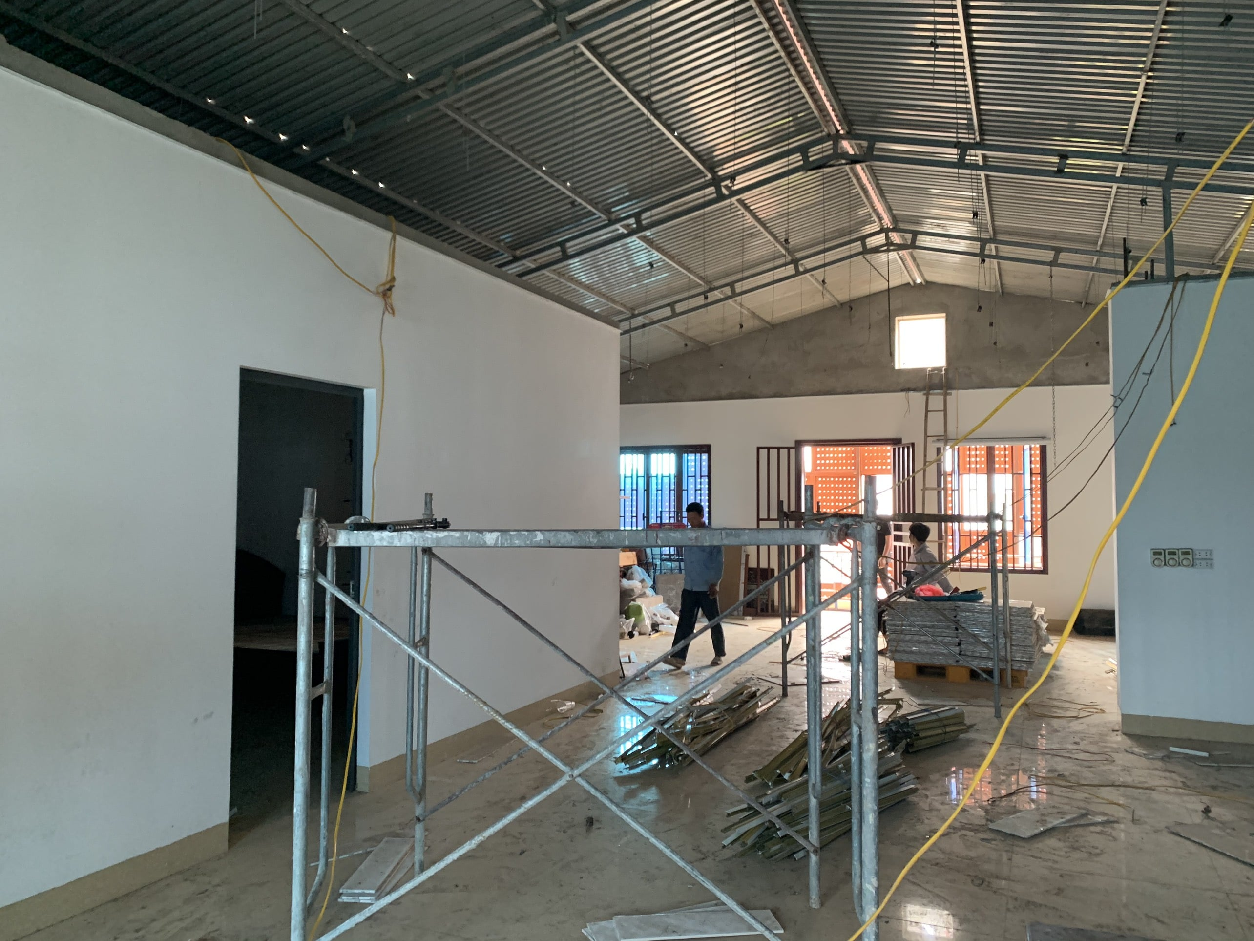 Khảo sát mặt bằng tầng mái quán cafe