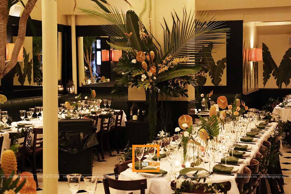 thiết kế nhà hàng buffet phong cách Indochina