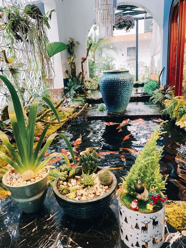 quán cafe cá koi đẹp tại Ecopark