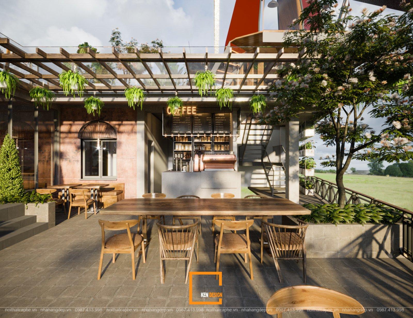 thiết kế quán cafe Windmills Coffee and Tea