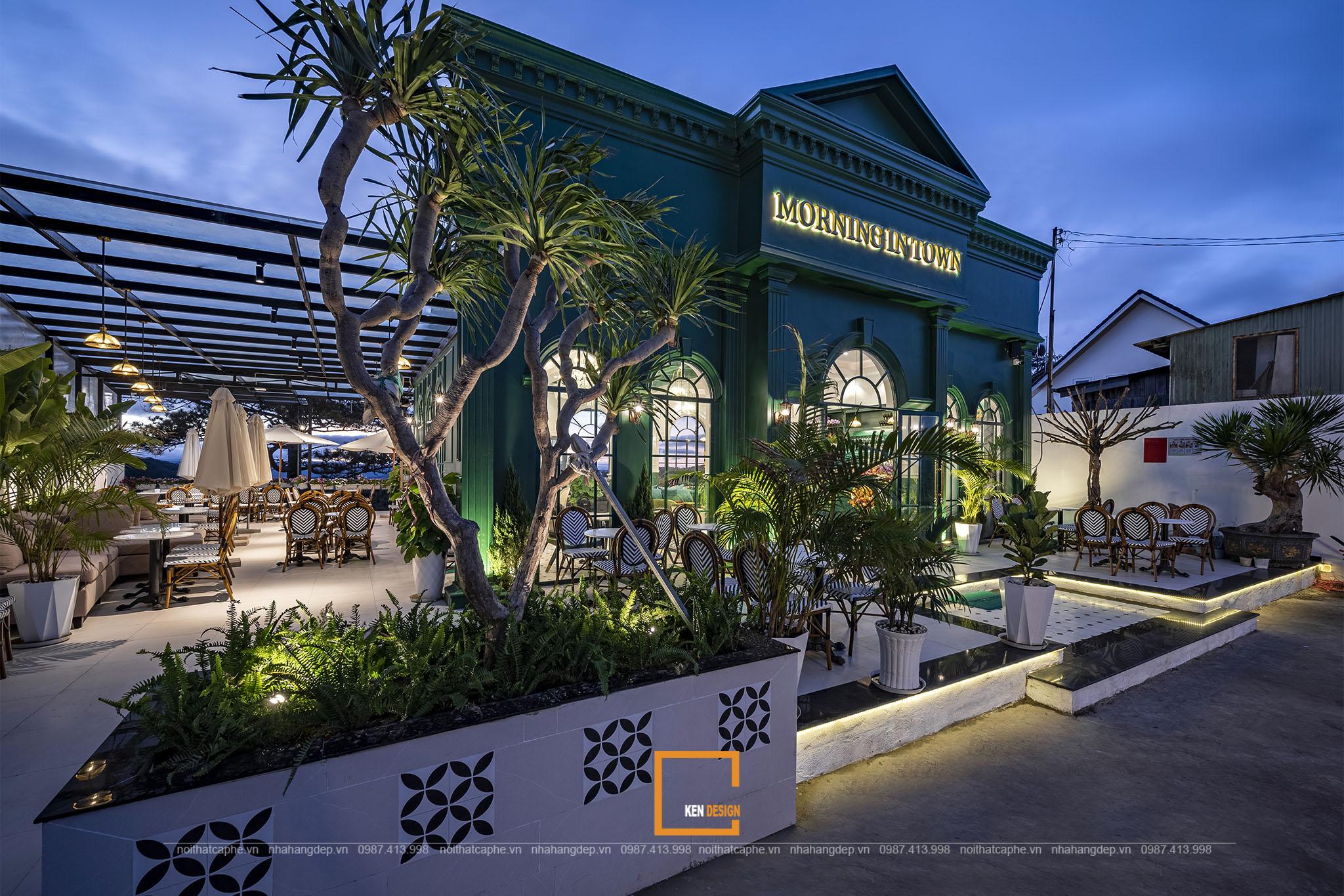 Thi công quán cafe Morning in Town Đà Lạt