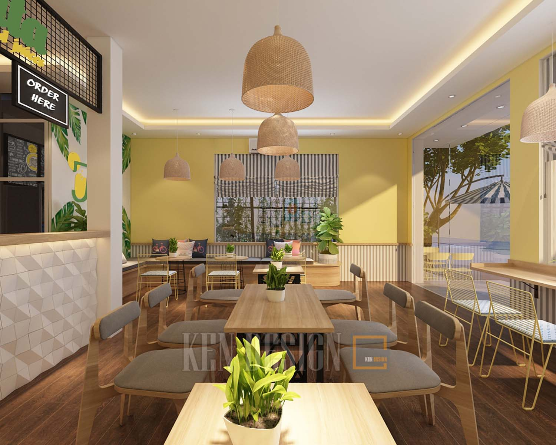 Thiết kế cafe, quán nước ép Jucita