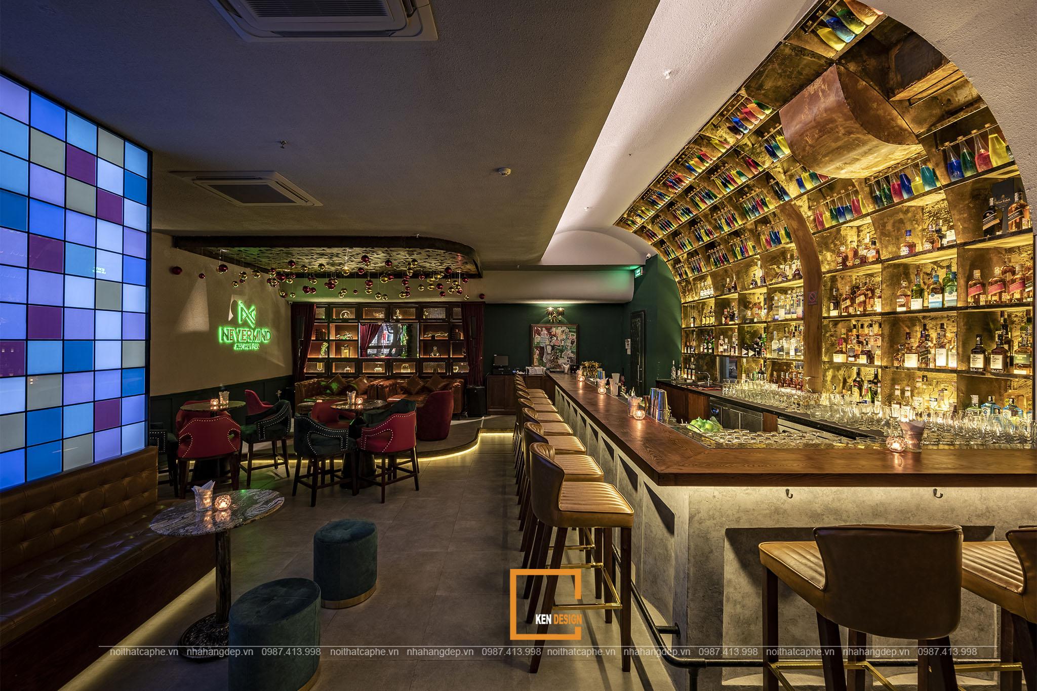 Mẫu thiết kế bar lounge sang trọng