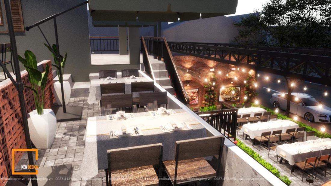 thiết kế nhà hàng Ao Quê