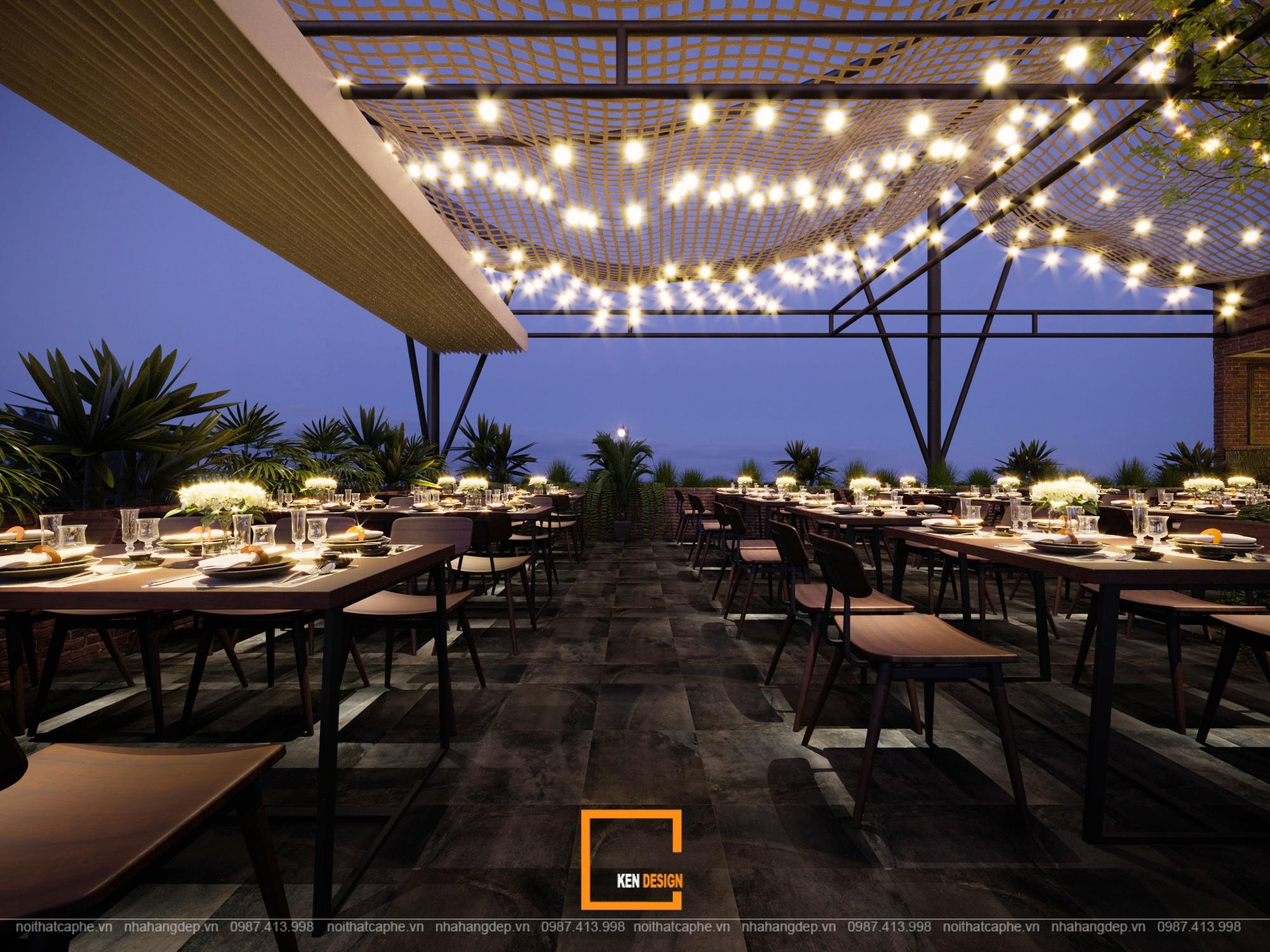 Thiết kế nhà hàng hải sản trên cao