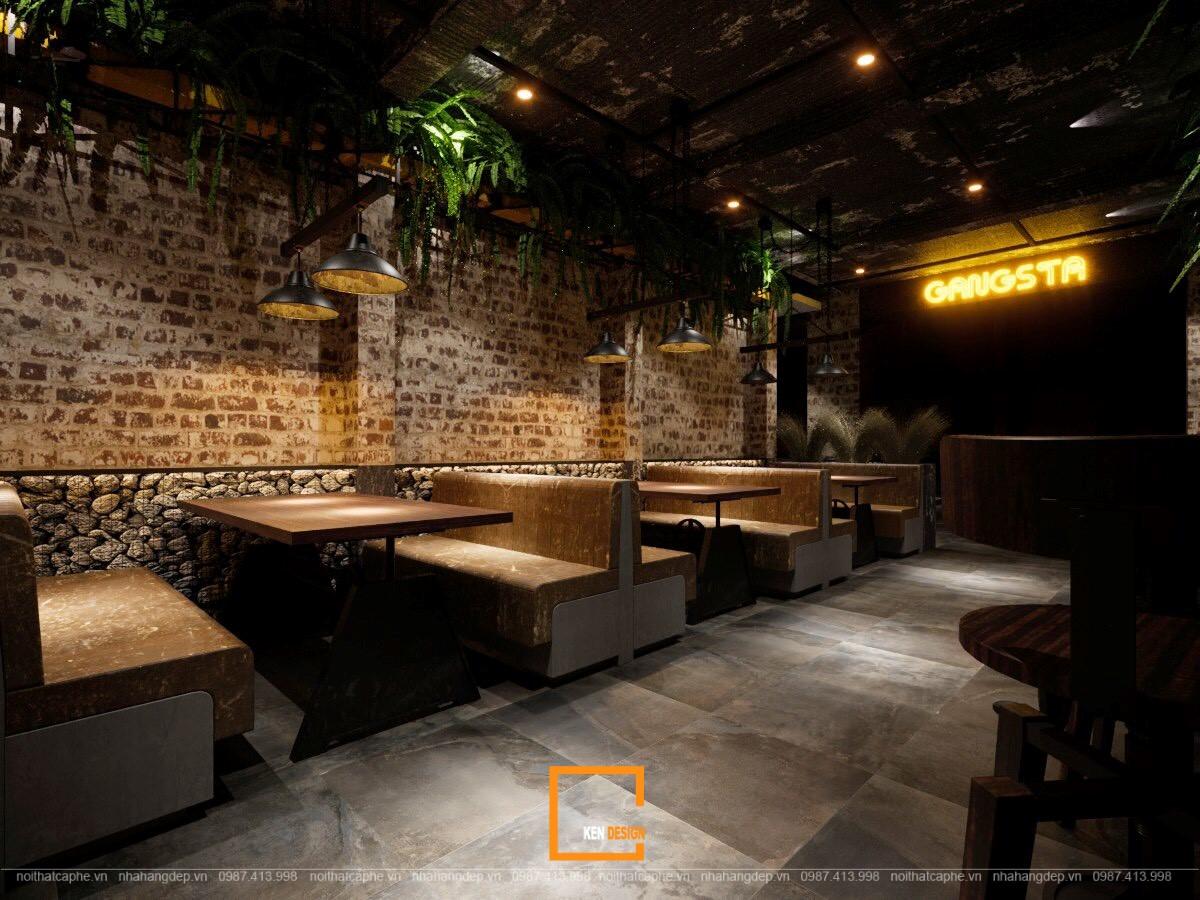 Thiết kế nhà hàng The Gangs sảnh Nguyễn Huệ