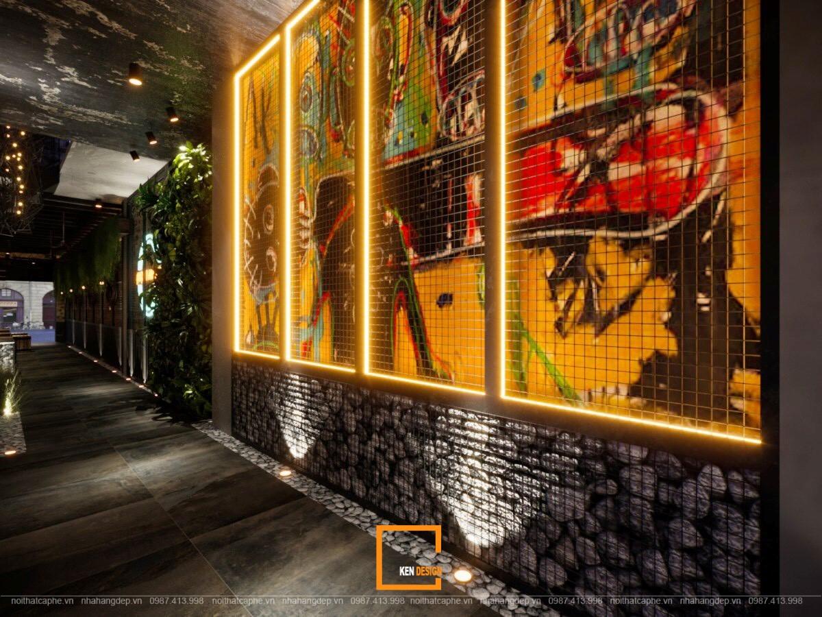Decor tranh tường nhà hàng The Gangs