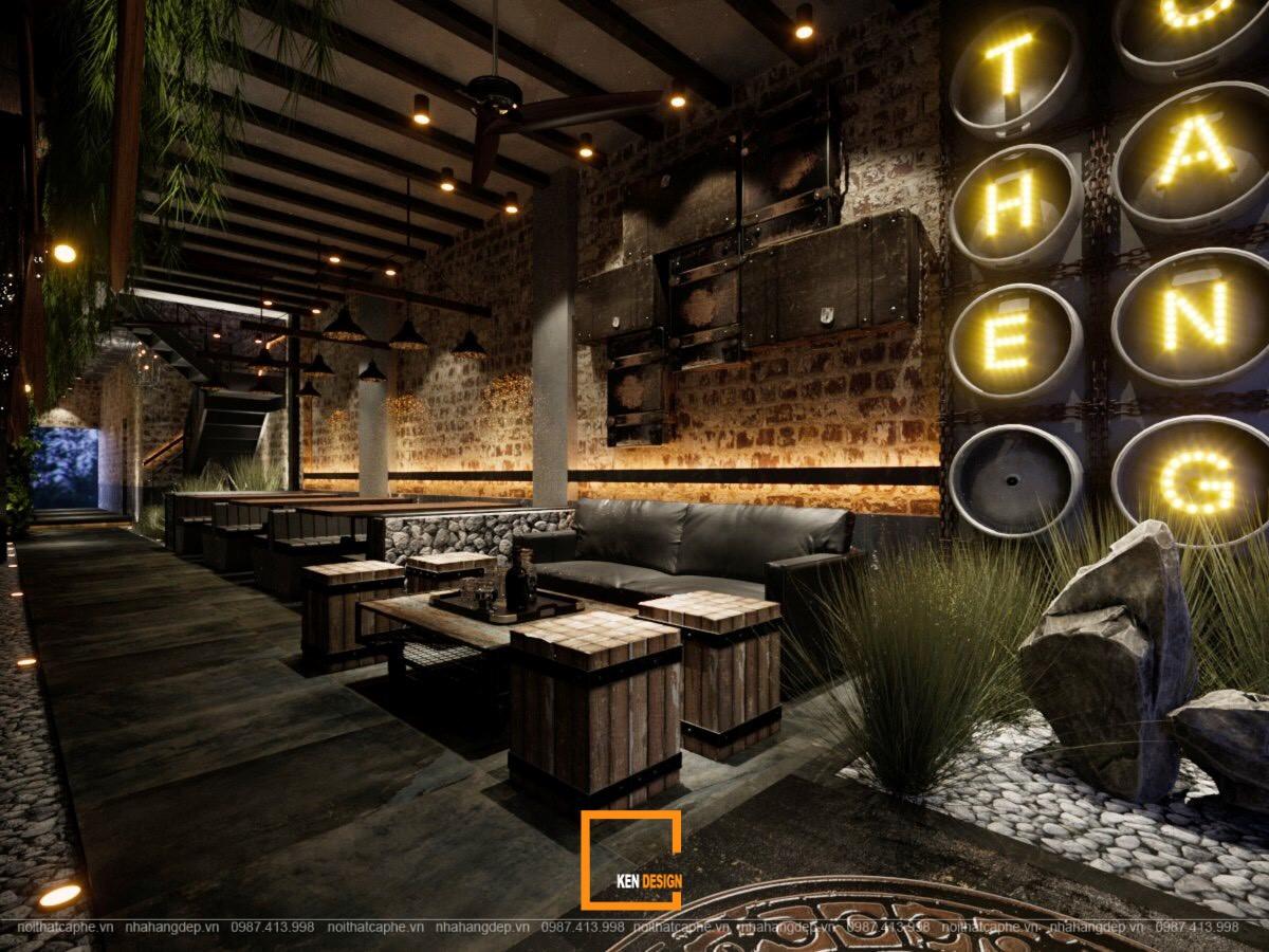Thiết kế nhà hàng The Gangs sảnh Hồ Tùng Mậu
