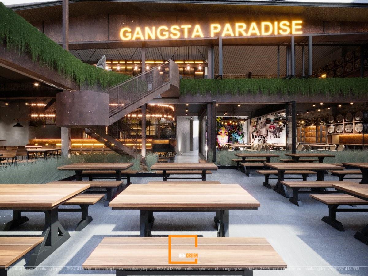Thiết kế nhà hàng The Gangs - Gangsta Paradise