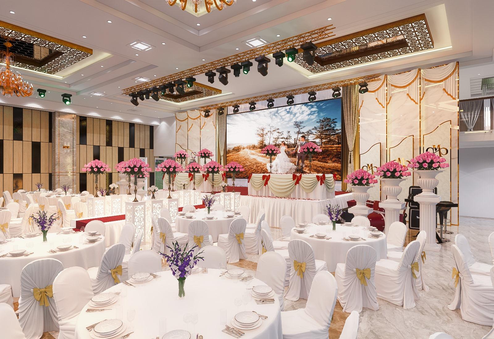 Thiết kế sân khấu nhà hàng tiệc cưới