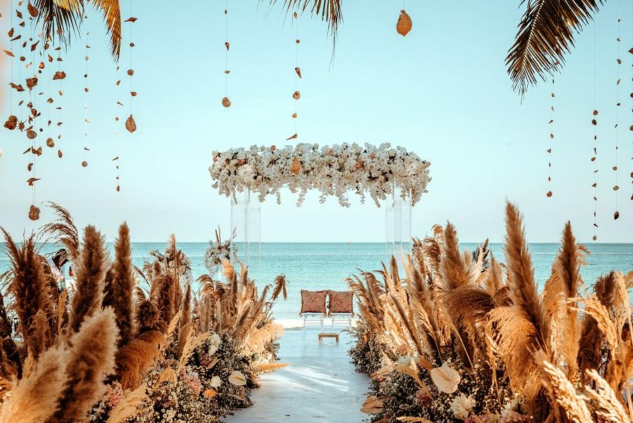 Thiết kế nhà hàng tiệc cưới phong cách Địa Trung Hải