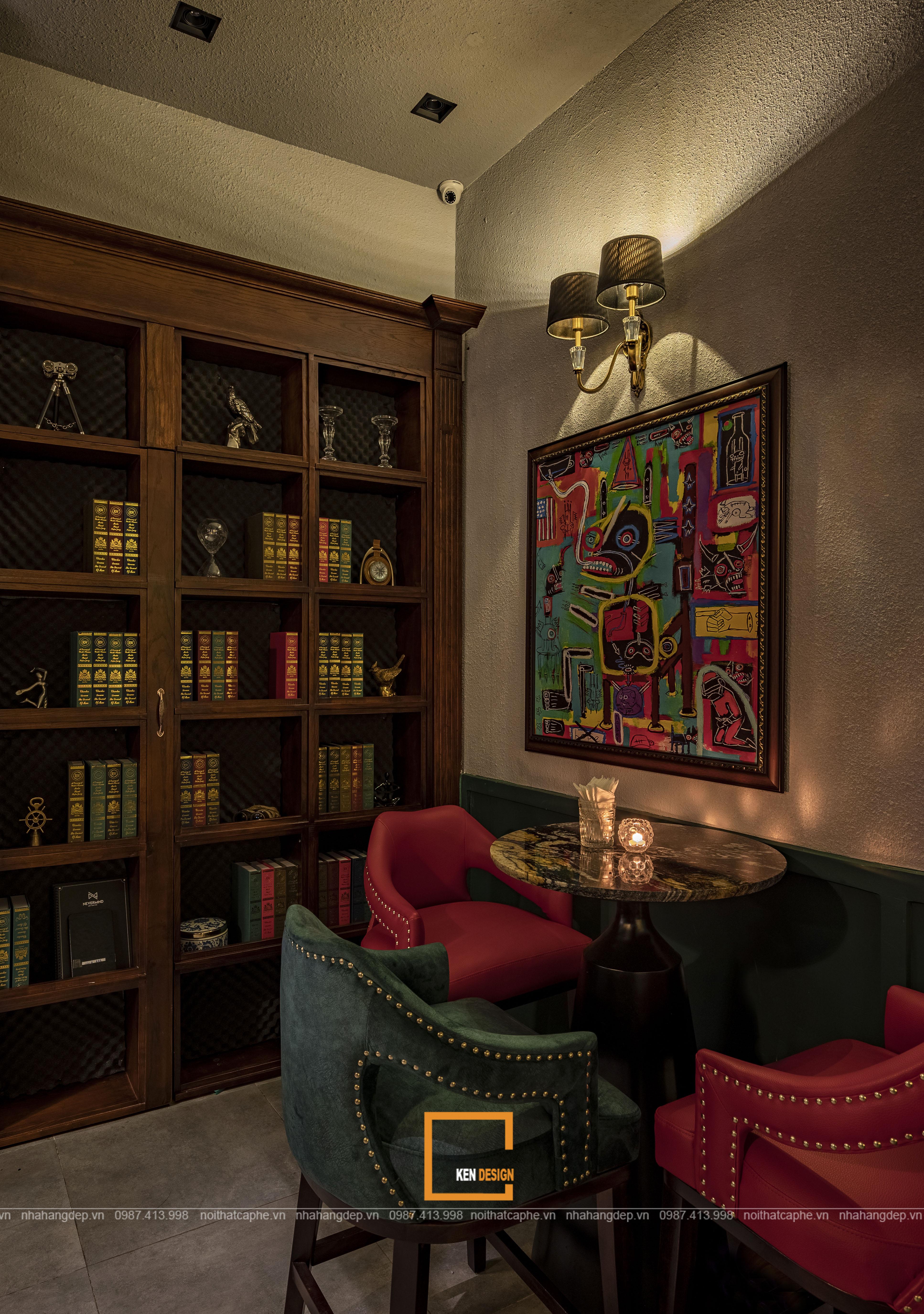 Nội thất trong các mẫu thiết kế bar lounge