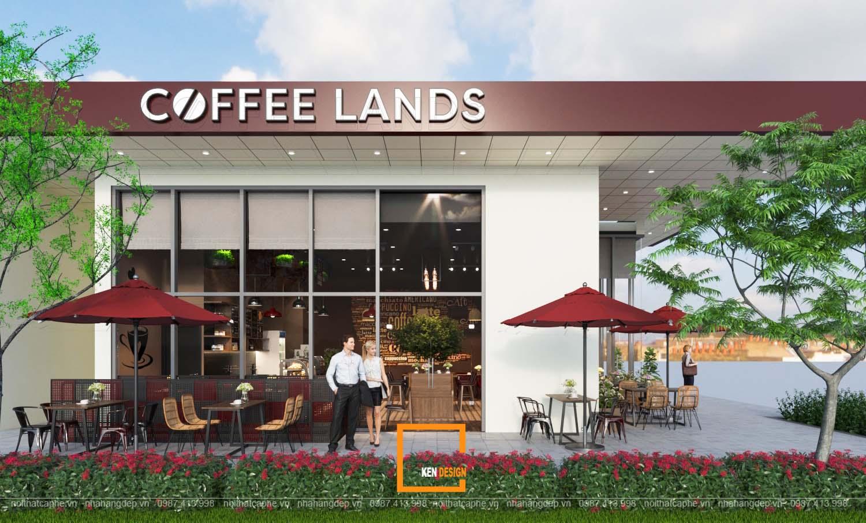 Thiết kế quán Coffee Lands