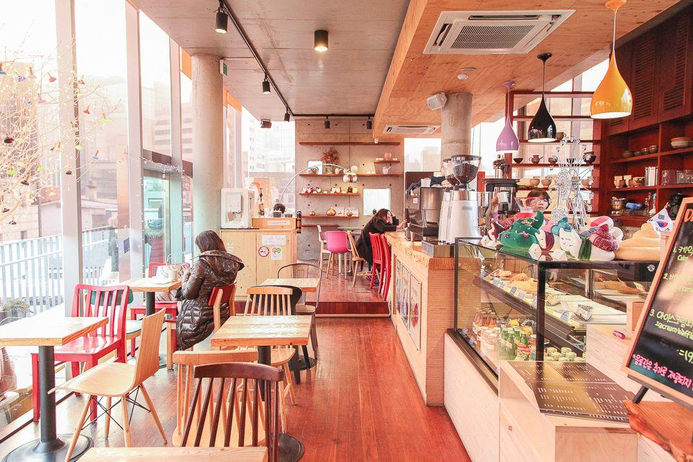 Thiết kế quán cafe phong cách Hàn Quốc 2