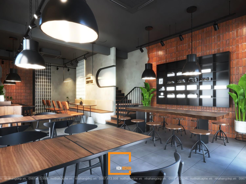 Thiết kế lầu 1 quán cafe Kiwi Coffee & Tea