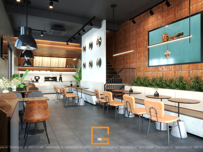 Thiết kế quán cafe Kiwi Coffee & Tea