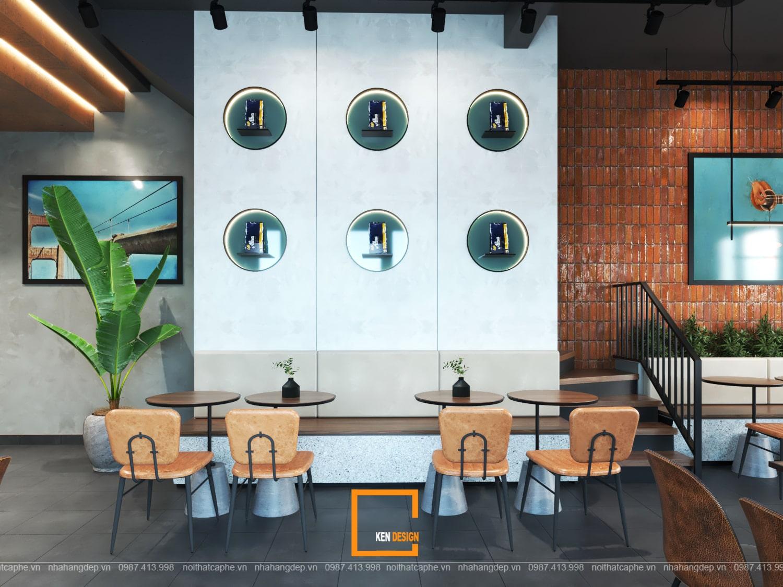 Thiết kế tầng trệt quán cafe Kiwi Coffee & Tea