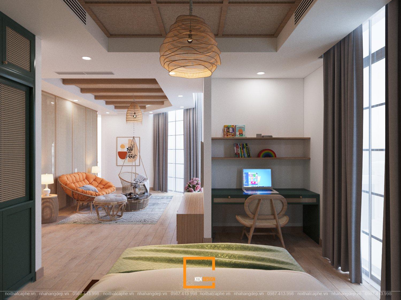 Thiết kế quán cà phê kết hợp biệt thự Phố Wall