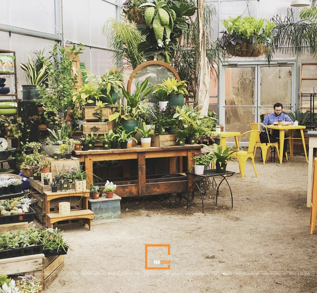 Thiết kế quán cafe sân vườn