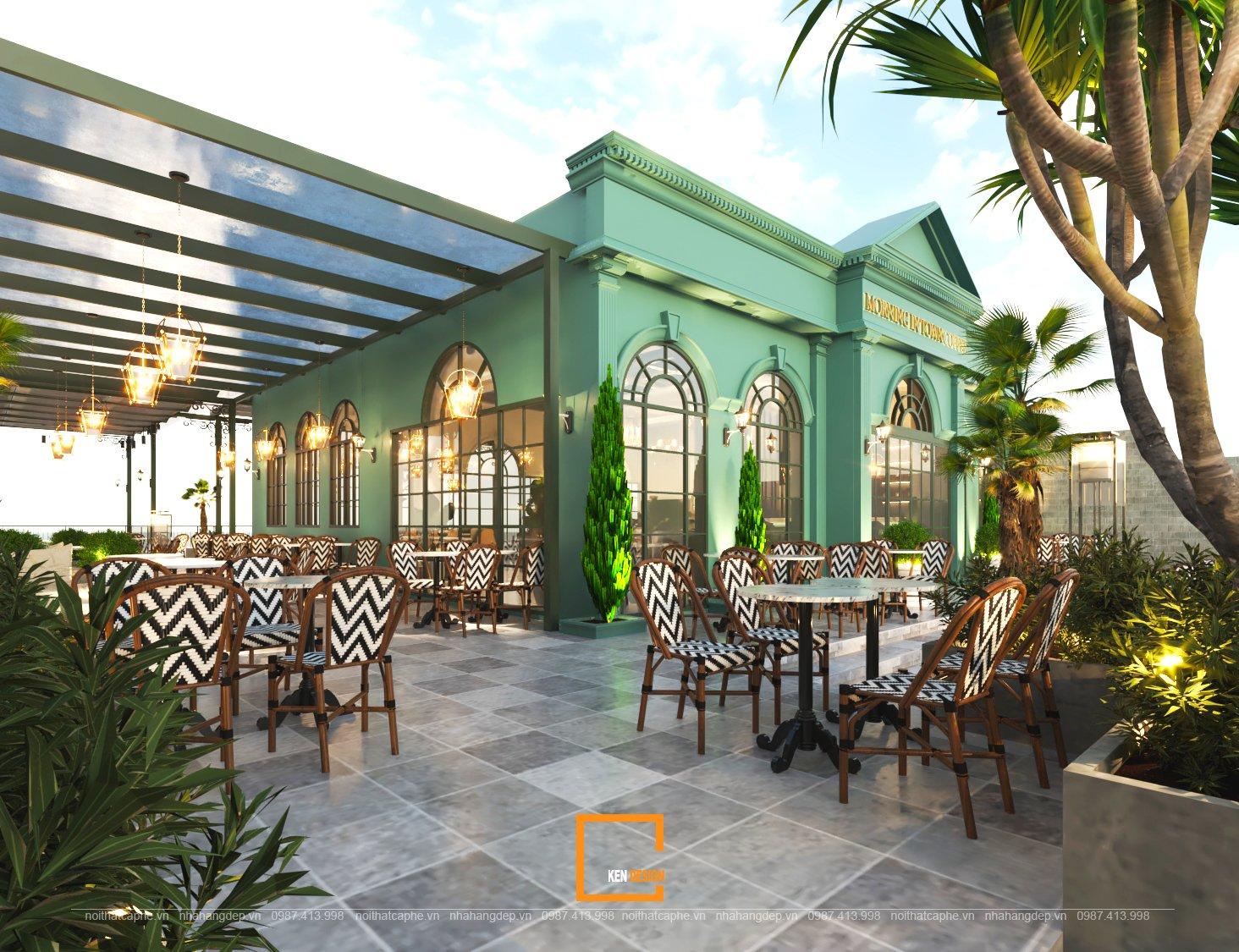 Bản thiết kế quán cafe Monring in Town