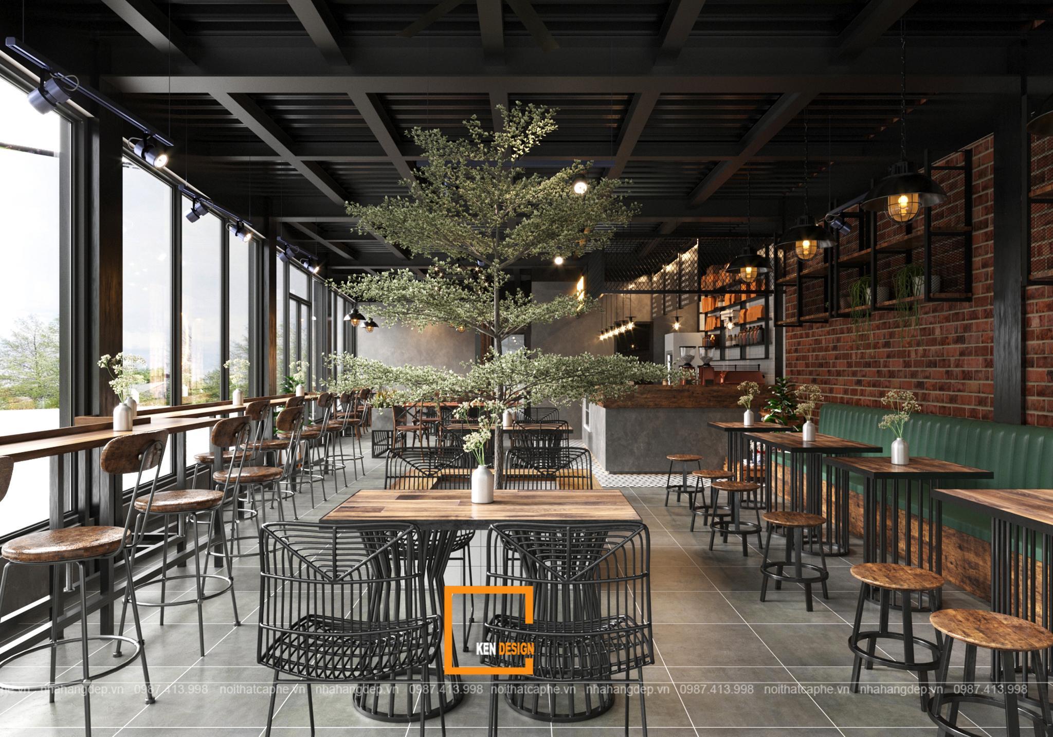 """Bí quyết thiết kế quán cafe khung thép """"hút hồn"""" khách hàng"""