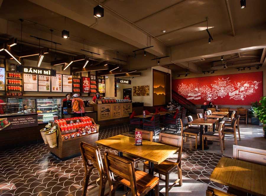 thiết kế quán cafe Highlands Coffee