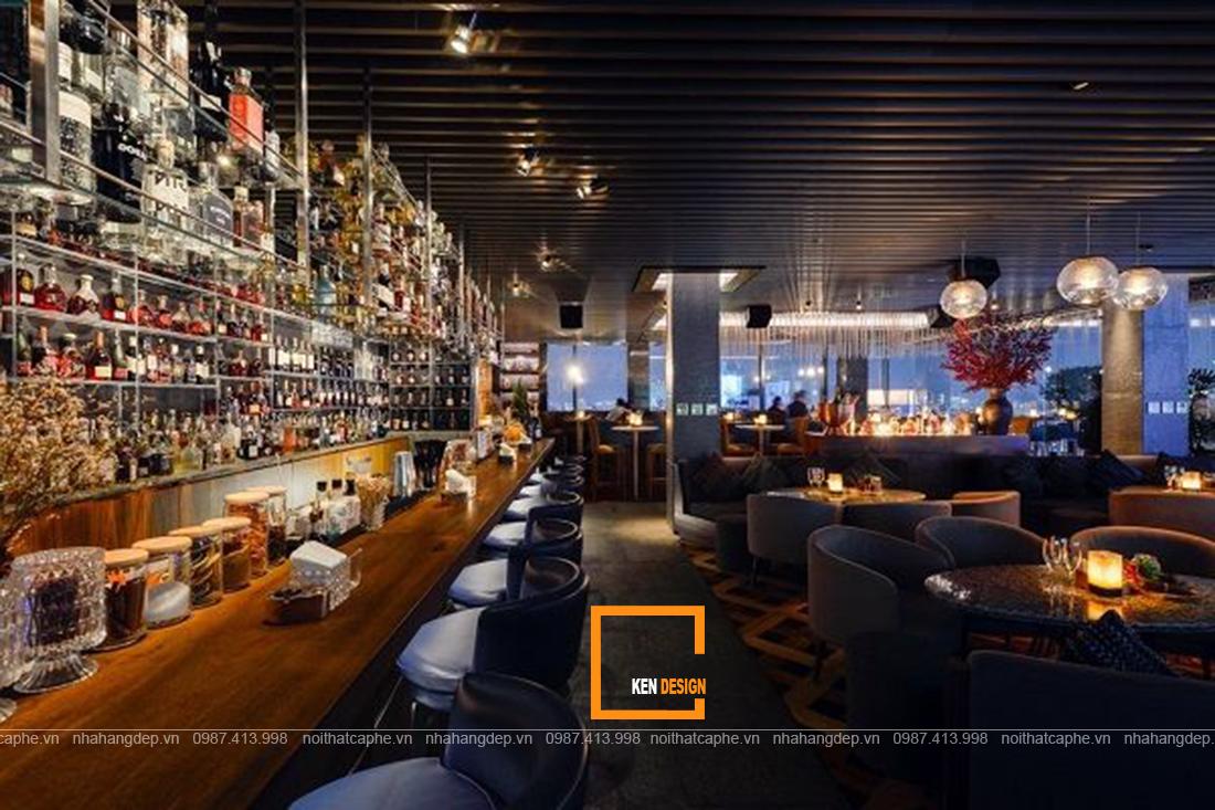 Màu sắc ánh sáng trong những mẫu thiết kế bar lounge